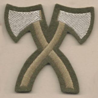 CROSSED AXES - PIONEER embroidered wool worsted