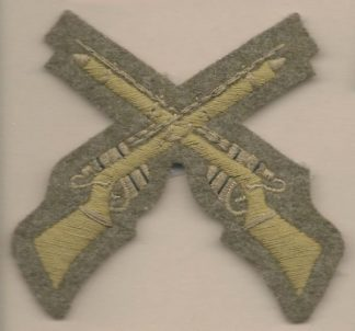 CROSSED RIFLES - MARKSMAN embroidered wool worsted