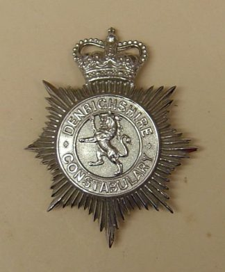DENBIGHSHIRE CONSTABULARY QC Chrome lion centre