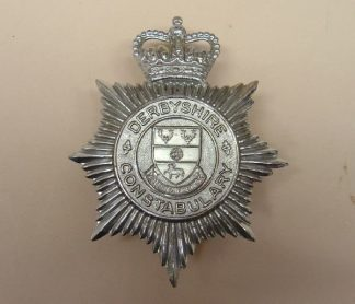 DERBYSHIRE CONSTABULARY QC Chrome shield 'Lamb'