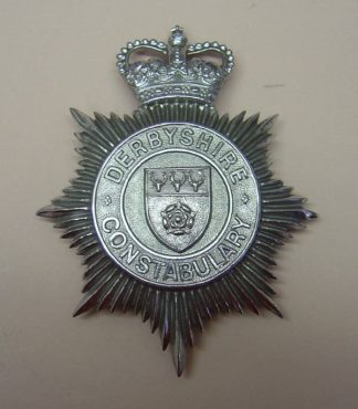 DERBYSHIRE CONSTABULARY QC Chrome shield 'Rose'