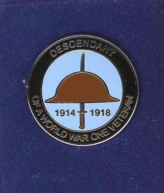 DESCENDANT OF WWI VETERAN lapel badge