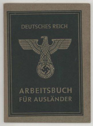 Deutches Reich Arbeitsbuch fur AUSLANDER