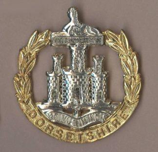 DORSETSHIRE 'Blank scroll' bi/m or's cap badge