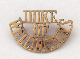 DUKE OF WELLINGTONS 3-LINE brass s/title