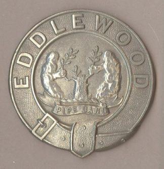 EDDLEWOOD PIPE BAND GLENGARRY BADGE w/m