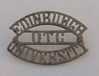 EDINBURGH UNIVERSITY O.T.C. 3-line brass shoulder