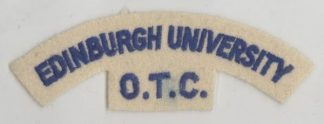 EDINBURGH UNIVERSITY - O.T.C. cloth s/t Blue/whit
