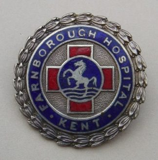 FARNBOROUGH HOSPITAL - KENT H.M. Silver & Enamel