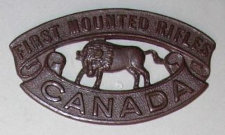 FIRST MOUNTED RIFLES CANADA dk bz shoulder title