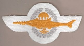 GERMANY - PARA FROGMAN embroidered yellow on white