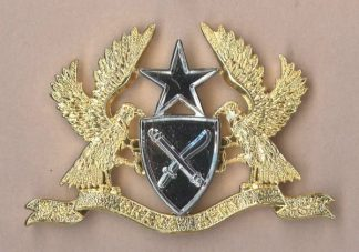 GHANA ARMY Officer's gilt and bright nickel c/ b
