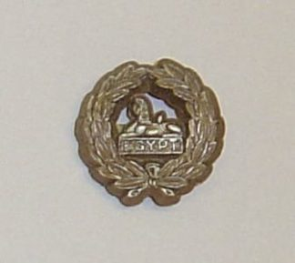 OUCESTERSHIRE REGIMENT back badge plastic