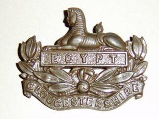 OUCESTERSHIRE REGIMENT O.S.D. Bronze cap badge