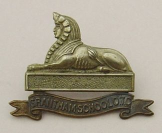 ANTHAM SCHOOL O.T.C. or's bi/m cap badge