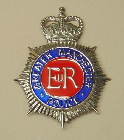 EATER MANCHESTER POLICE QC Chrome, Blue ring Red