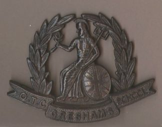 ESHAM SCHOOL O.T.C. or's bronzed cap badge