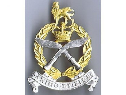 GURKHA ADJUTANT GENERAL CORPS - QC or's silver plate and gilt Cap Badge (original)