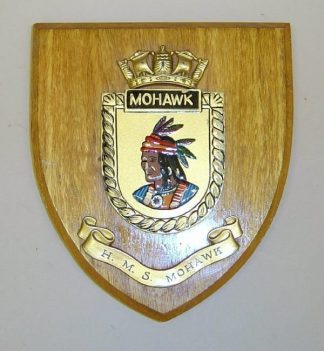H.M.S. MOHAWK wall plaque