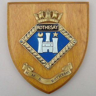 H.M.S ROTHESAY wall plaque