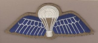 INDIA cloth Para Wing Blue on Buff