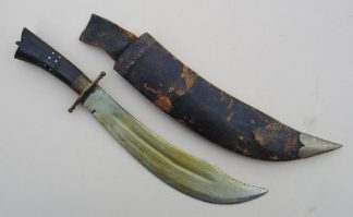 INDIAN 'BOWIE' STYLE DAGGER IN SCABBARD