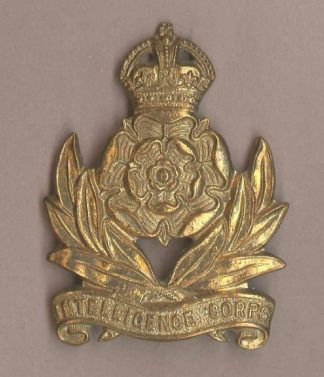 INTELLIGENCE CORPS KC g/m or's cap badge