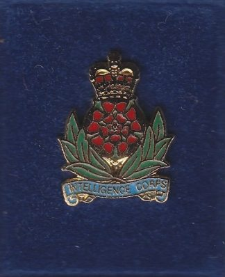 INTELLIGENCE CORPS lapel CAP BADGE enamel QC