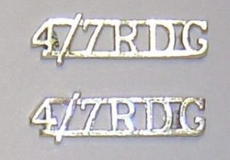 IV/VII DRAGOON GUARDS a/a OR's'staybright s/t's pr