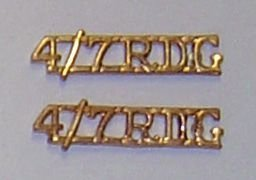 IV/VII DRAGOON GUARDS metal 'small' officers metal
