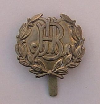 JEWISH LADS BRIGADE - OR's g/m cap badge