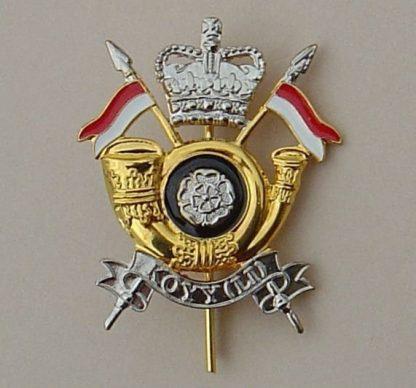 KINGS OWN YORKSHIRE YEOMANRY (L.I.) QC gilt/enamel
