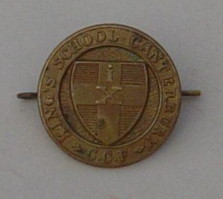KINGS SCHOOL CANTERBURY C.C.F. g/m cap badge