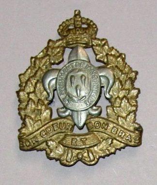REGIMENT DE LEVIS KC or's cap badge