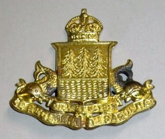 REGIMENT DU SAGUENAY  KC gm or's cap badge