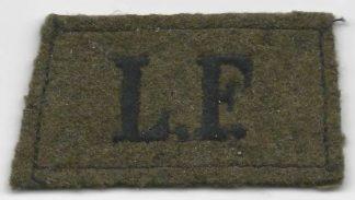 L.F. Lancashire Fusiliers embridered black/khaki