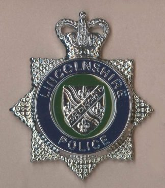 NCOLNSHIRE POLICE QC Chrome 'star'  c/b blu/gree