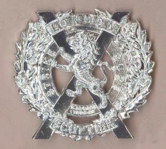 NDON SCOTTISH sil. a/a Glengarry badge