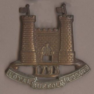 ROYAL SUFFOLK HUSSARS bi/m cap badge