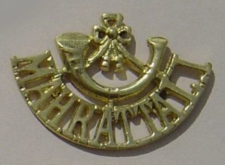 MAHARATTA  L.I., cast brass shoulder title