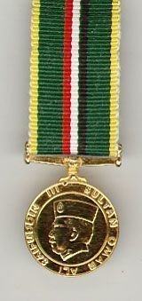 BRUNEI MALAYAN REGIMENT LONG SERVICE MEDAL - Gilt miniature medal