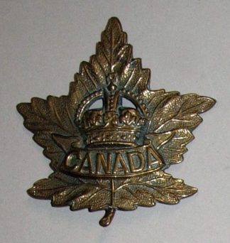 MAPLE LEAF GENERAL SERVICE BADGE 'KING'S CROWN'