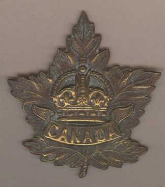 MAPLE LEAF GENERAL SERVICE KC Cap Badge bronzed
