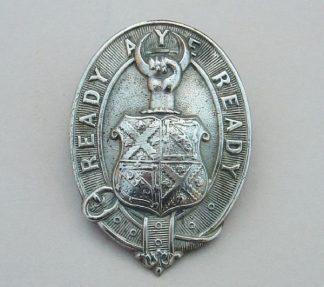 MERCHISTON CASTLE SCHOOL OTC white metal cap badge