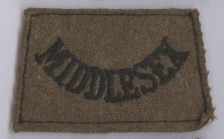 MIDDLESEX embroidered black on khaki