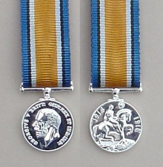 British War Medal 1914-1918 silver plate - Miniature