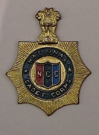 NATIONAL CADET CORPS  cast brass painted centre