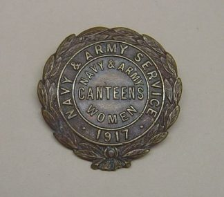 NAVY & ARMY SERVICE 1917 bronzed broach fixing