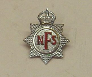N.F.S. - NATIONAL FIRE SERVICE chrome red enamel