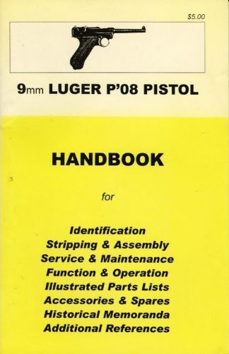 No.19  9 mm Luger P.08 Pistol 'YHB'